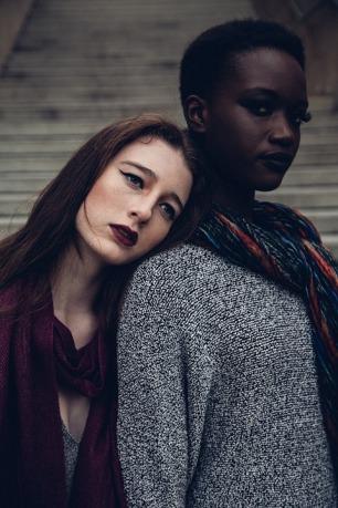 black and white women