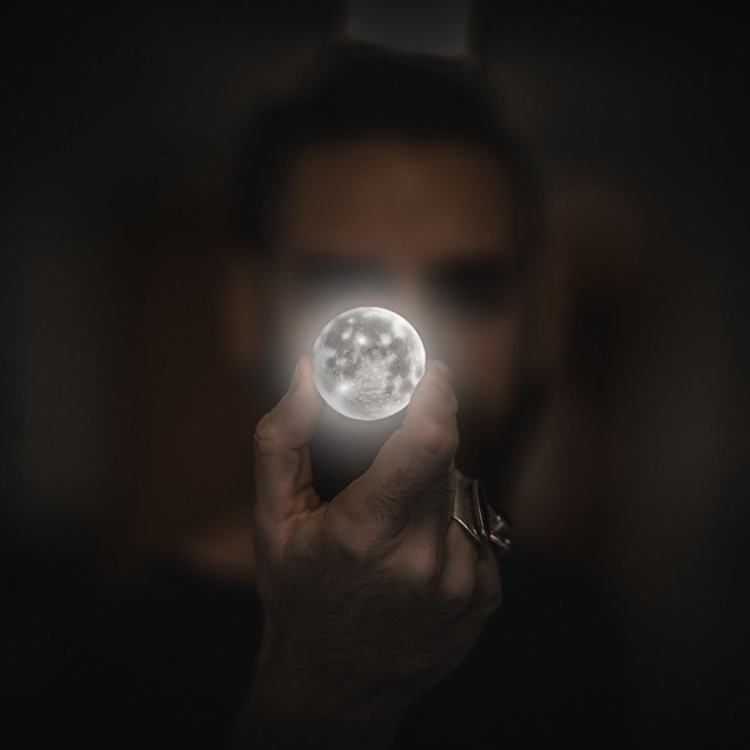 holding moon