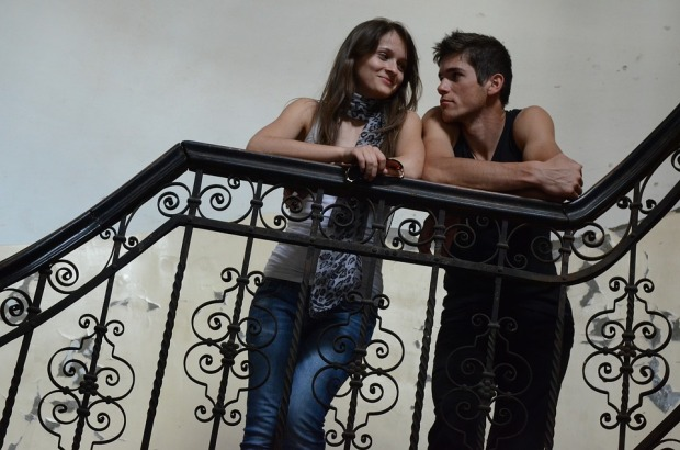 young couple stair case.jpg